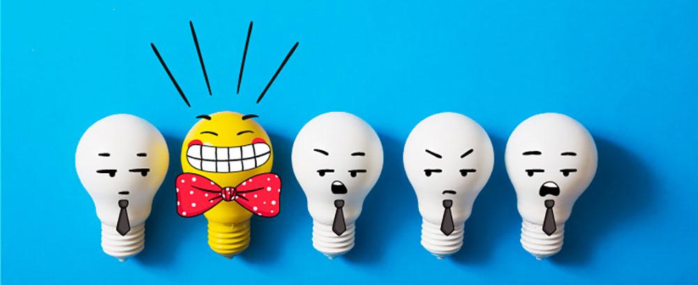 Gelukkige lamp