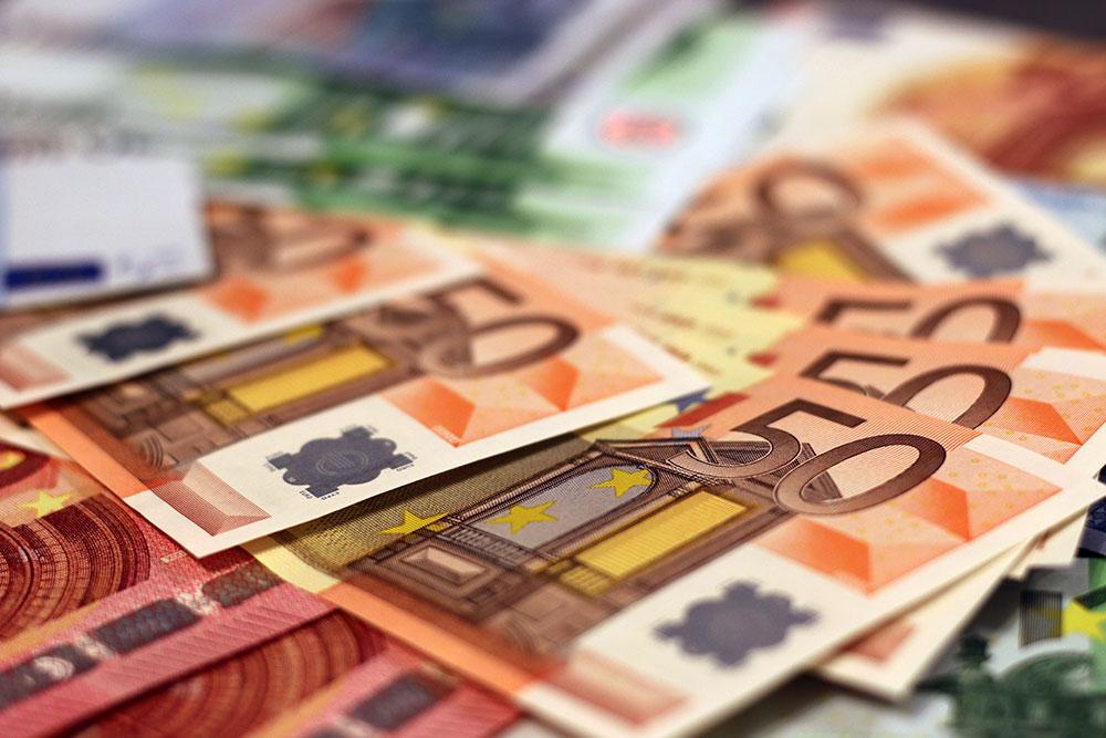 Geld euro biljetten