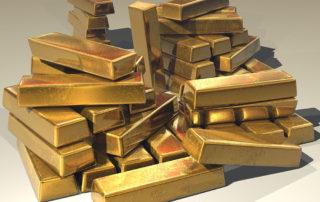 De vrij wetten van goud stapel goudstaven