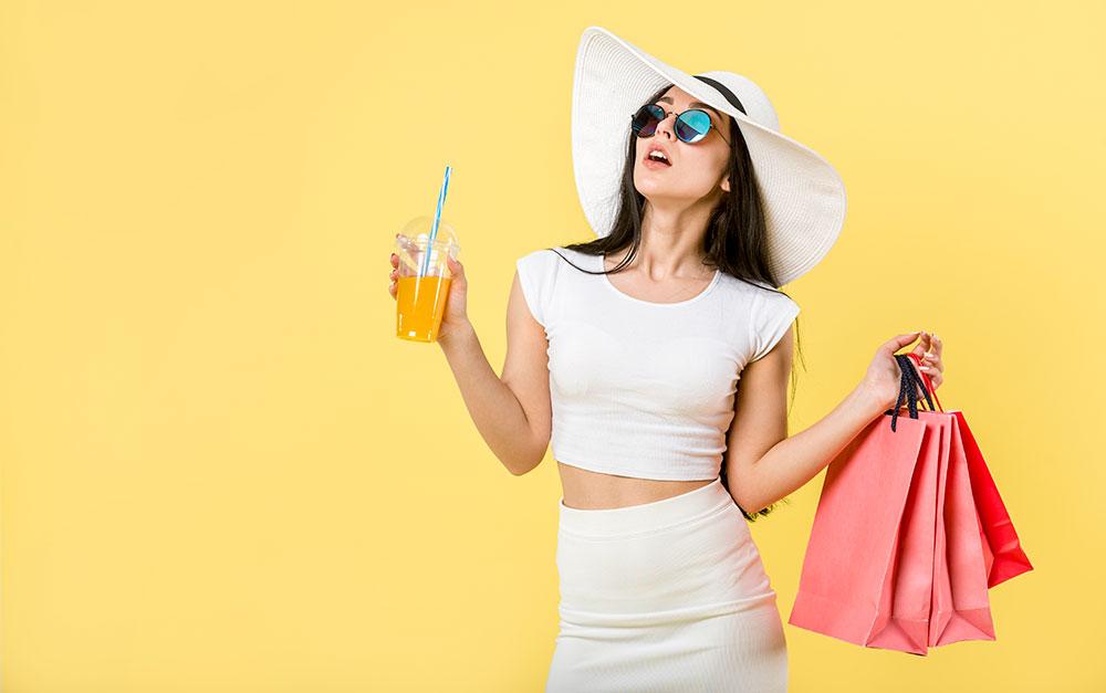 Winkelen shoppen voor mode